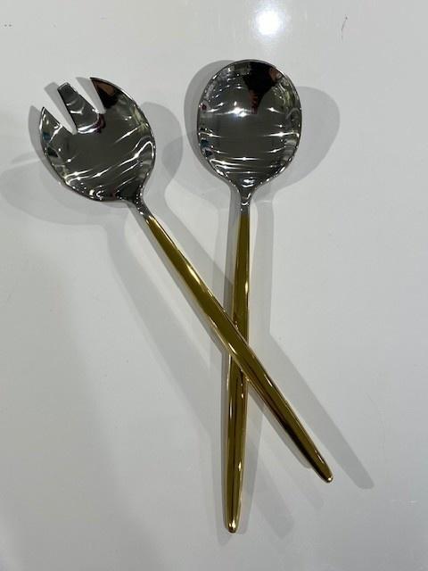Tai Chi 1/2 Gold Shiny Serving Spoons