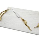 Crumpled Leaf Challah Board