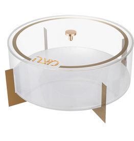 Metal Matzah Box White/Gold