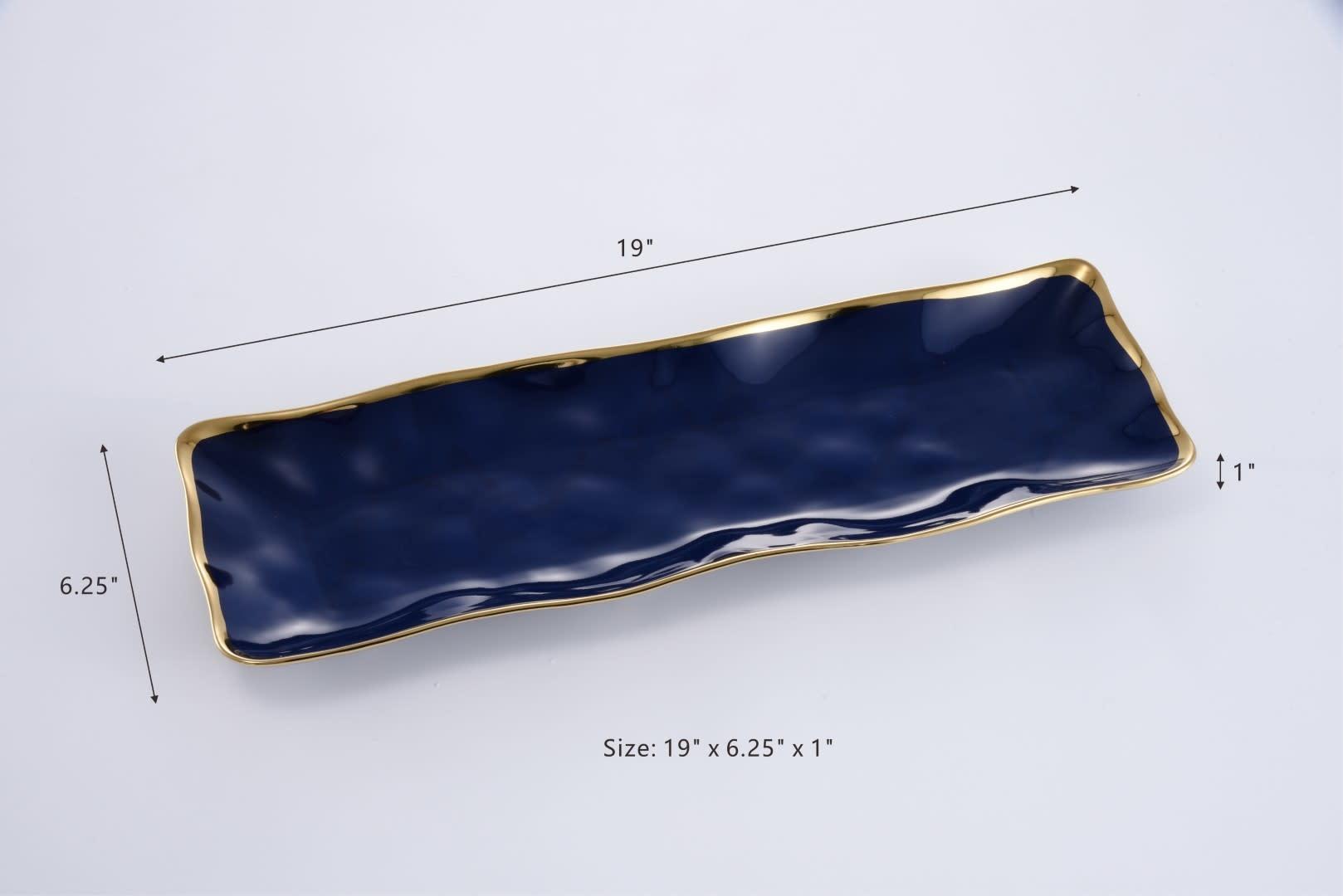 Blue Slim Rectangular Platter