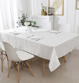 TC1324- 70 x 144 Jacquard Off White Tablecloth