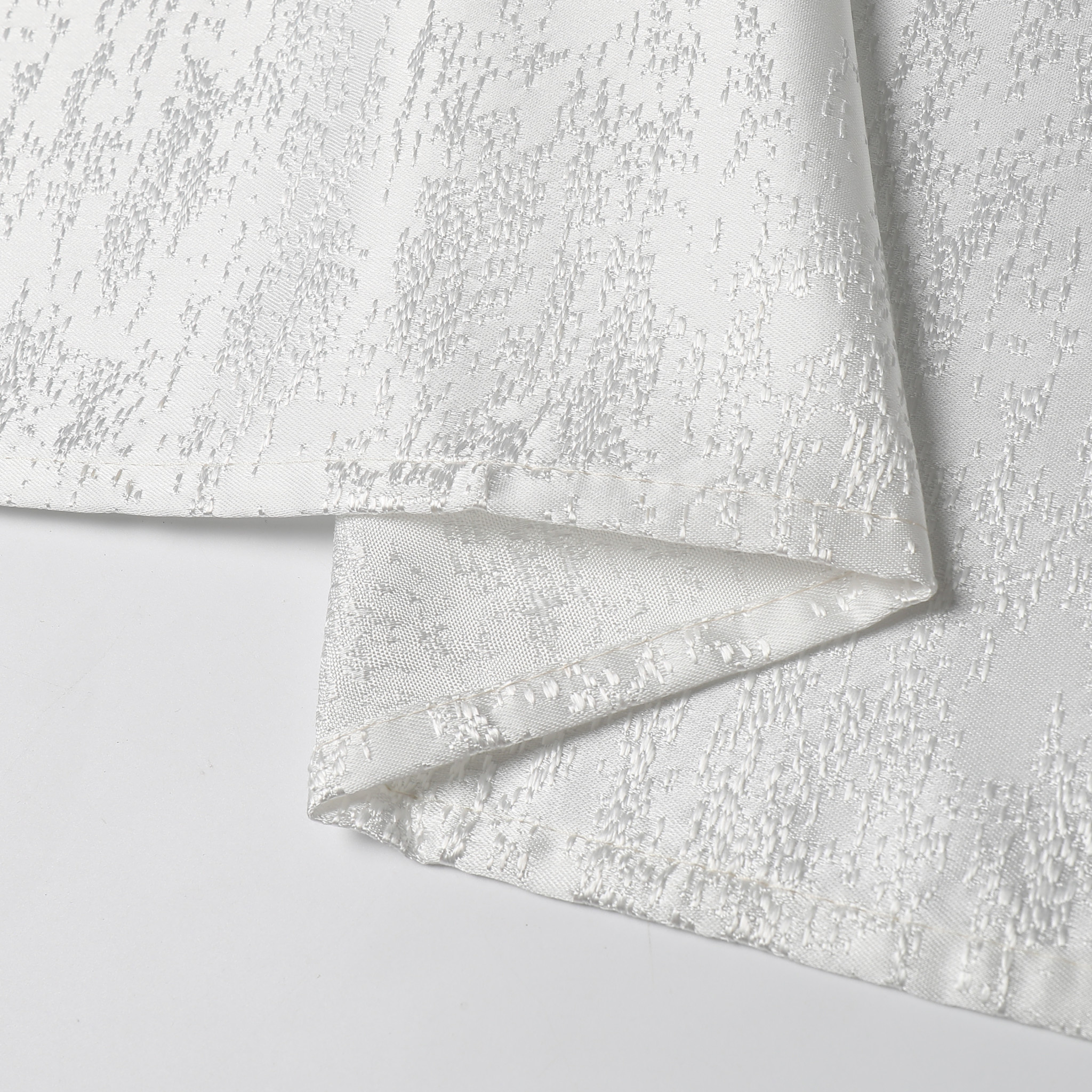 TC1324- 70 x 160 Jacquard Off White Tablecloth