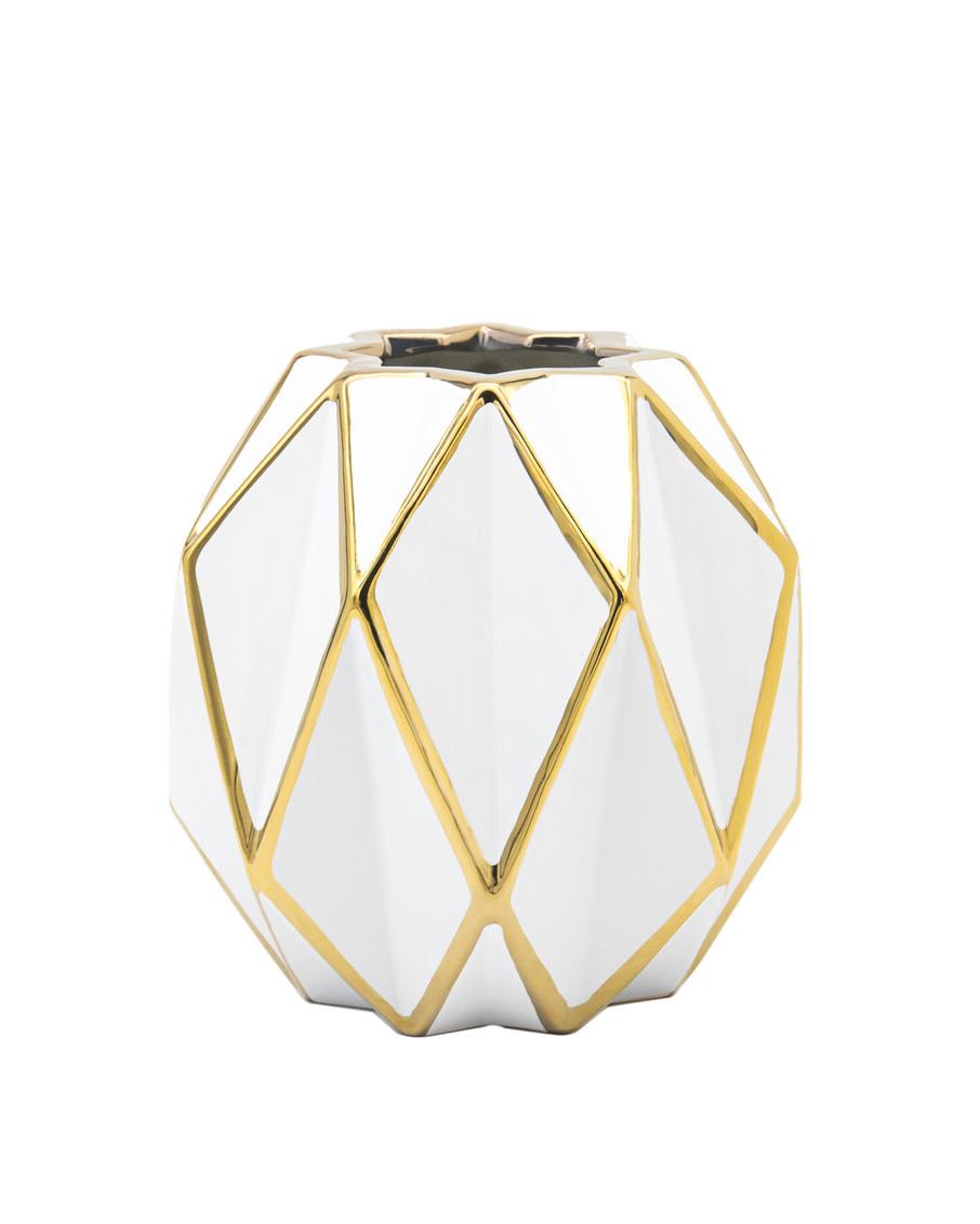 Aurora Gold Diamond Vase