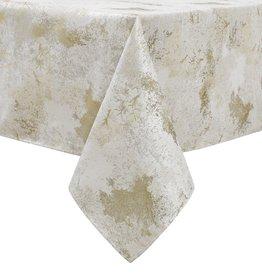 TC1329- 70 x 144 Jacquard White Gold Tree Tablecloth