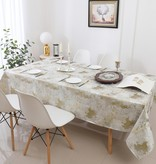 TC1329- 70 x 160 Jacquard White Gold Tree Tablecloth