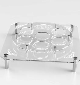 Lucite Square Silver Standoff Seder Plate