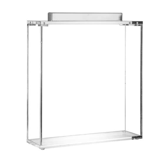 Metal Silver Lucite Square Matzah Box