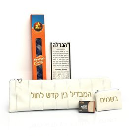 Havdalah Set Embroided White/Gold