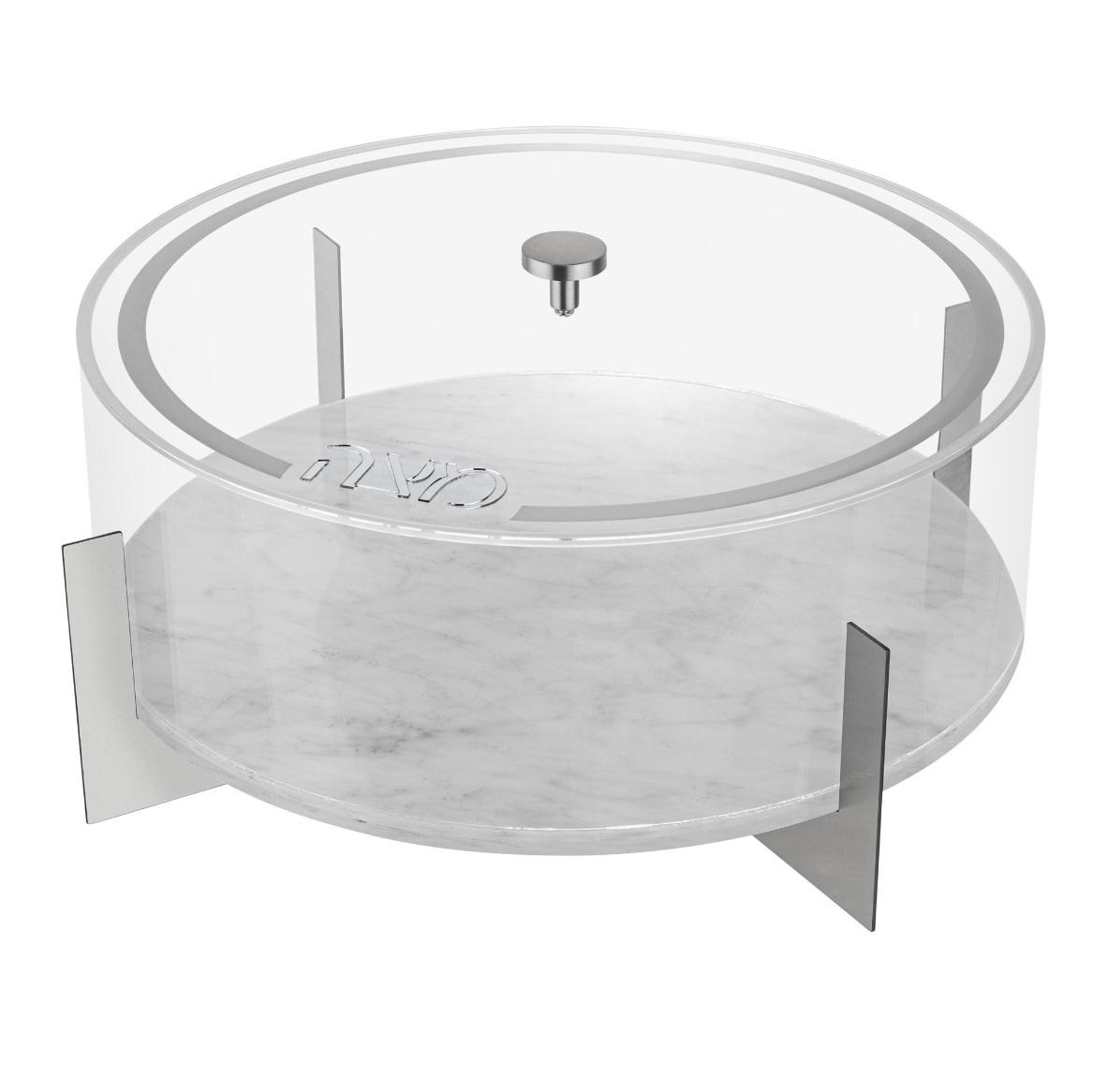 Metal Matzah Box Marble/Silver