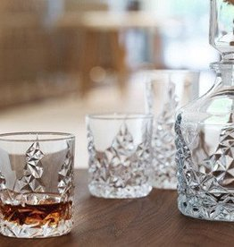 Sculpture Decanter w/ set of 2 glasses