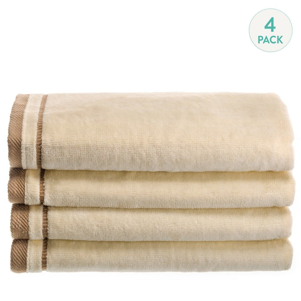 Ivory Cotton Velour Set of 4 Towels