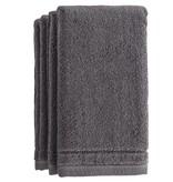 Grey Terry Fingertip Towels Set of 4