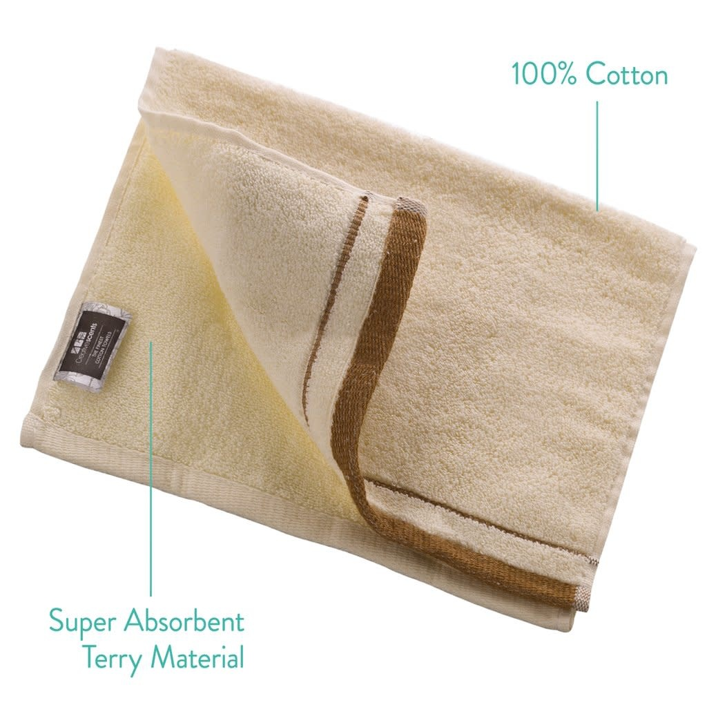 Ivory Terry Fingertip Towels Set of 4