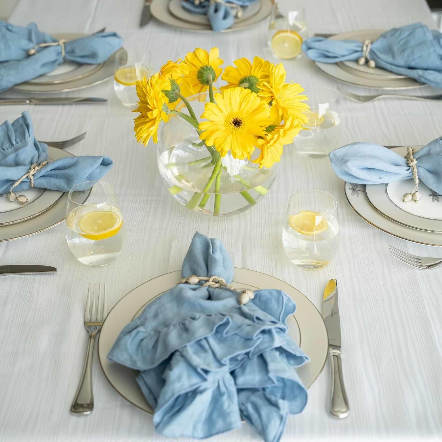 Madison White Tablecloth 66 x 108