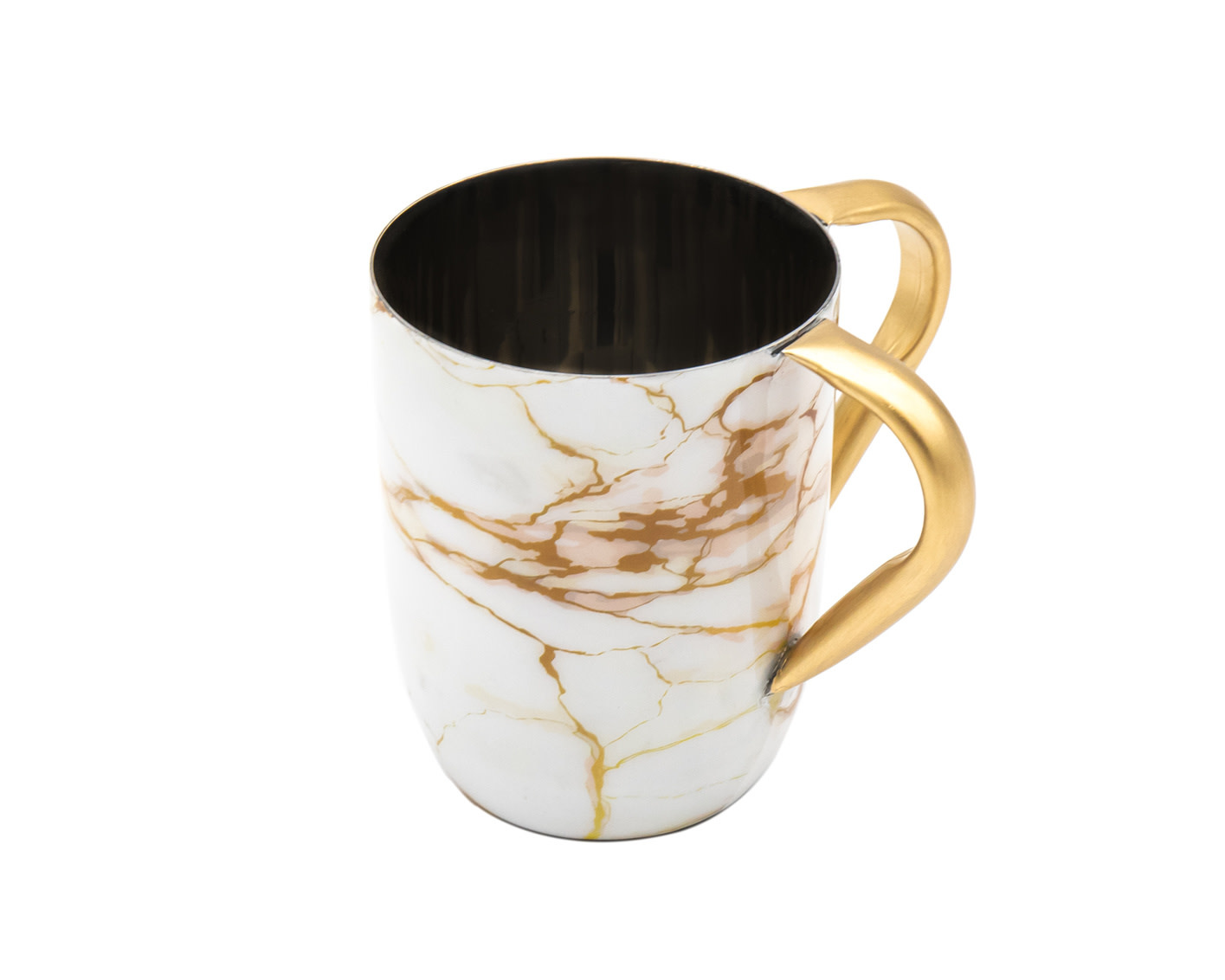 White/ Gold Fusion Washing Cup