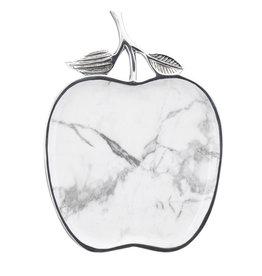 White Marble Apple Tray
