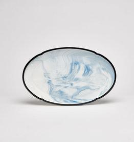 "Marble Blue 14"" Oval Platter"