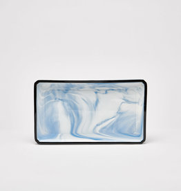 10.5 Rectangle Blue Platter