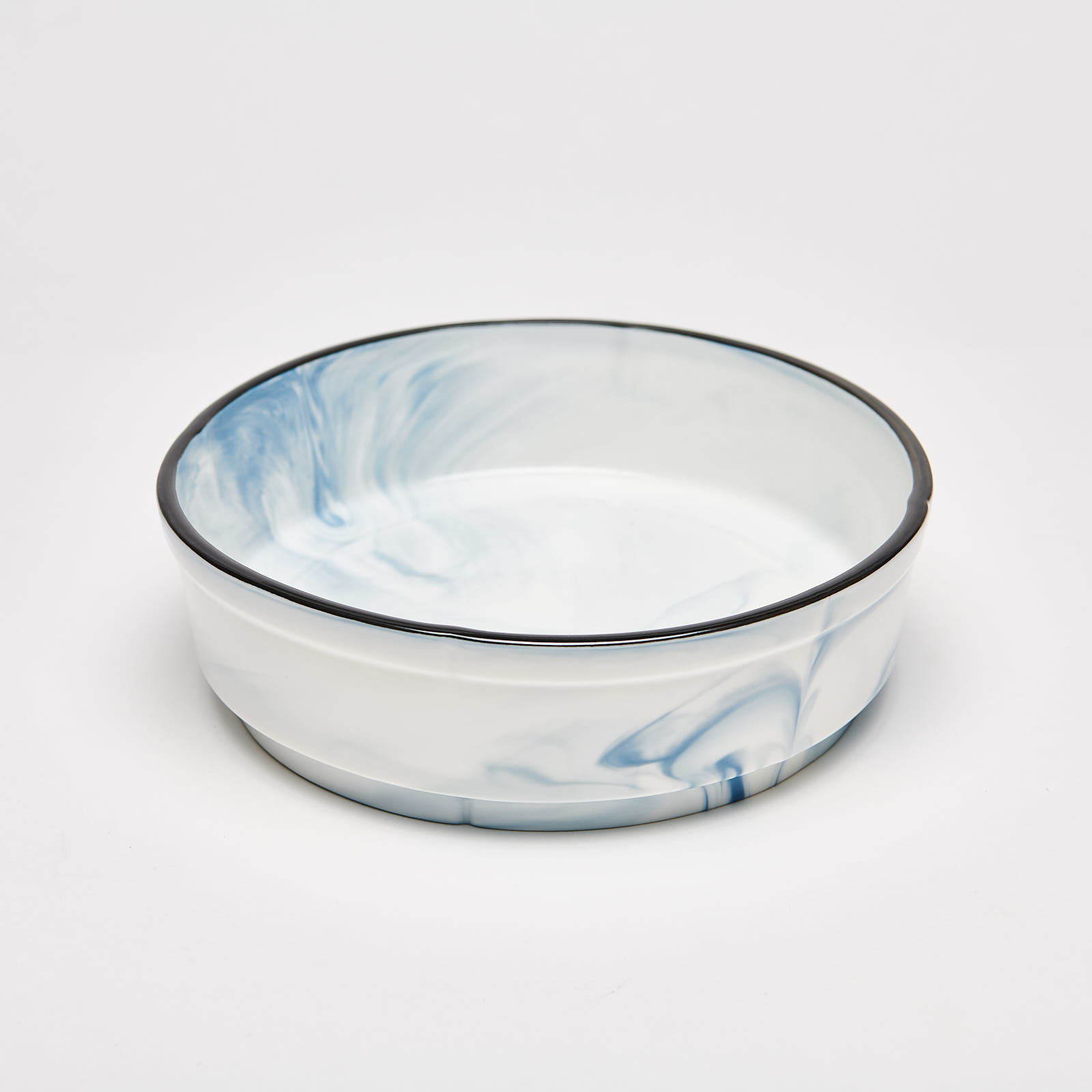"""Marble Blue Round Bowl 8.25"""""""