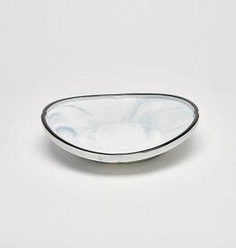 8.25 Deep Blue Oval Plate
