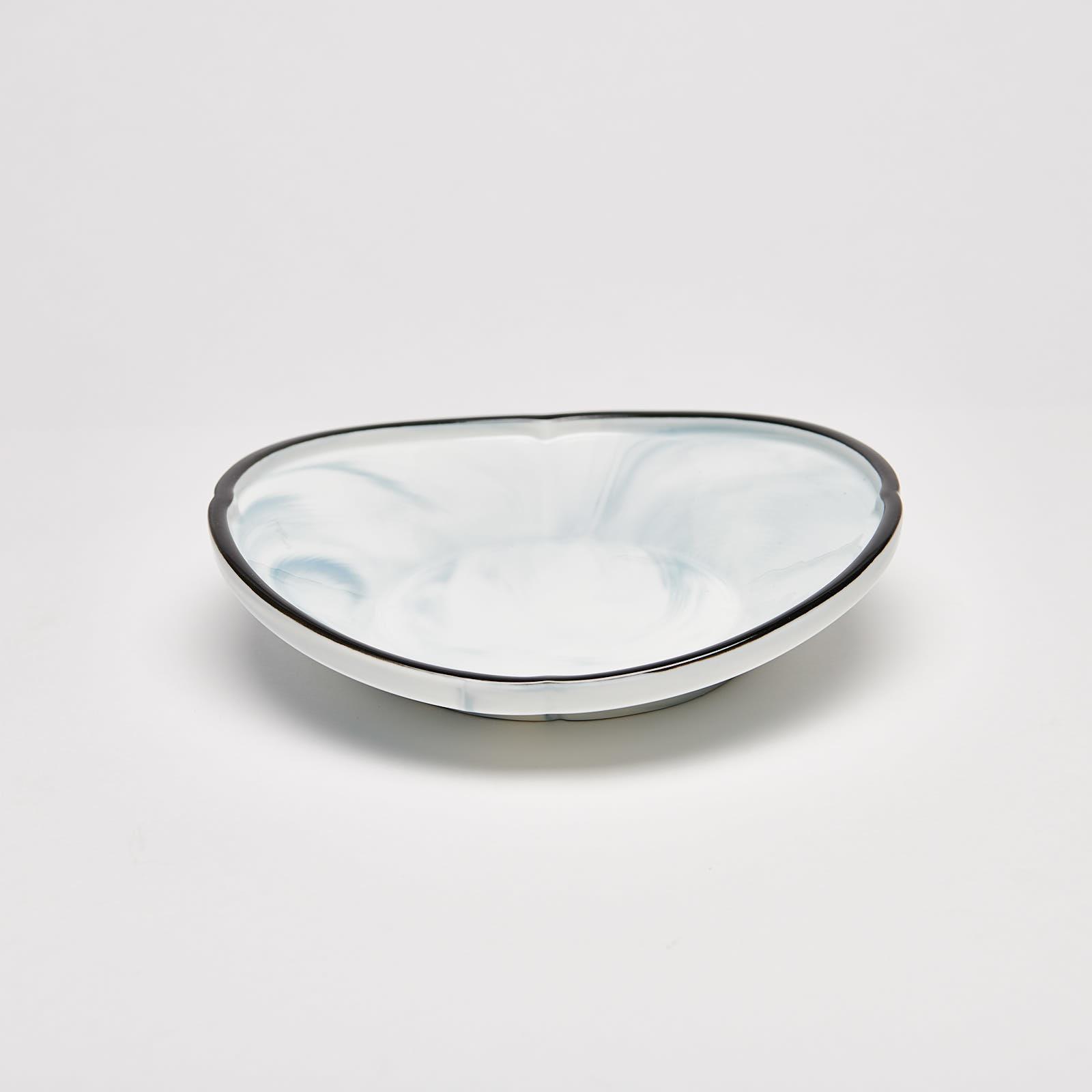 "Marble Deep Round Bowl 8.25"""