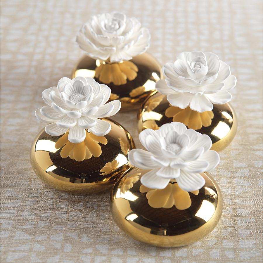 Nadia Porcelain Flower Diffuser Morrocan Peony