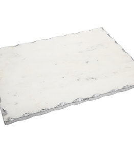 White Marble Board with Silver Edge 16x 12