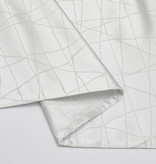 TC1333- 70 x 108 Jacquard White Silver Rays Tablecloth
