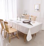 TC1334- 70 x 120 Jacquard White Gold Rays Tablecloth