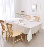 TC1336- 70 x 160 Jacquard Desert White Gold Tablecloth