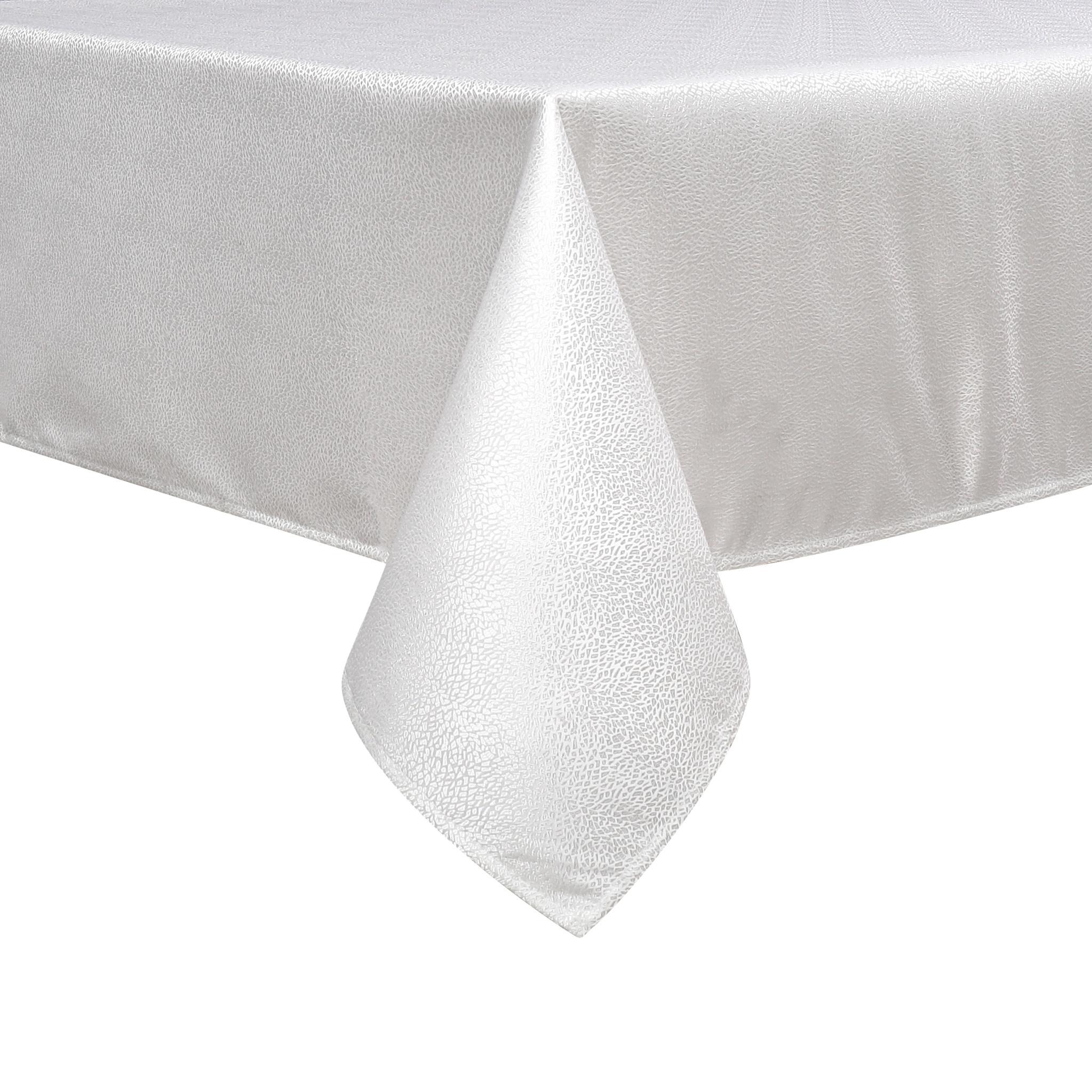 TC1345- 70 x 120 Jacquard White Slate Tablecloth