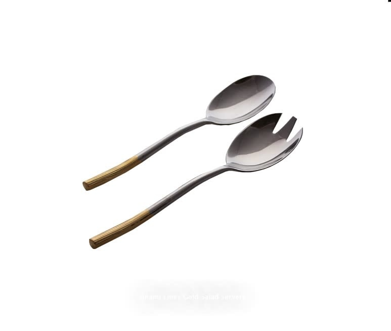 Unami Gold Accent Serving Spoons