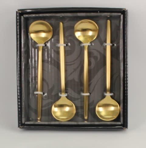 Tai Chi Matte Gold Dessert Spoons
