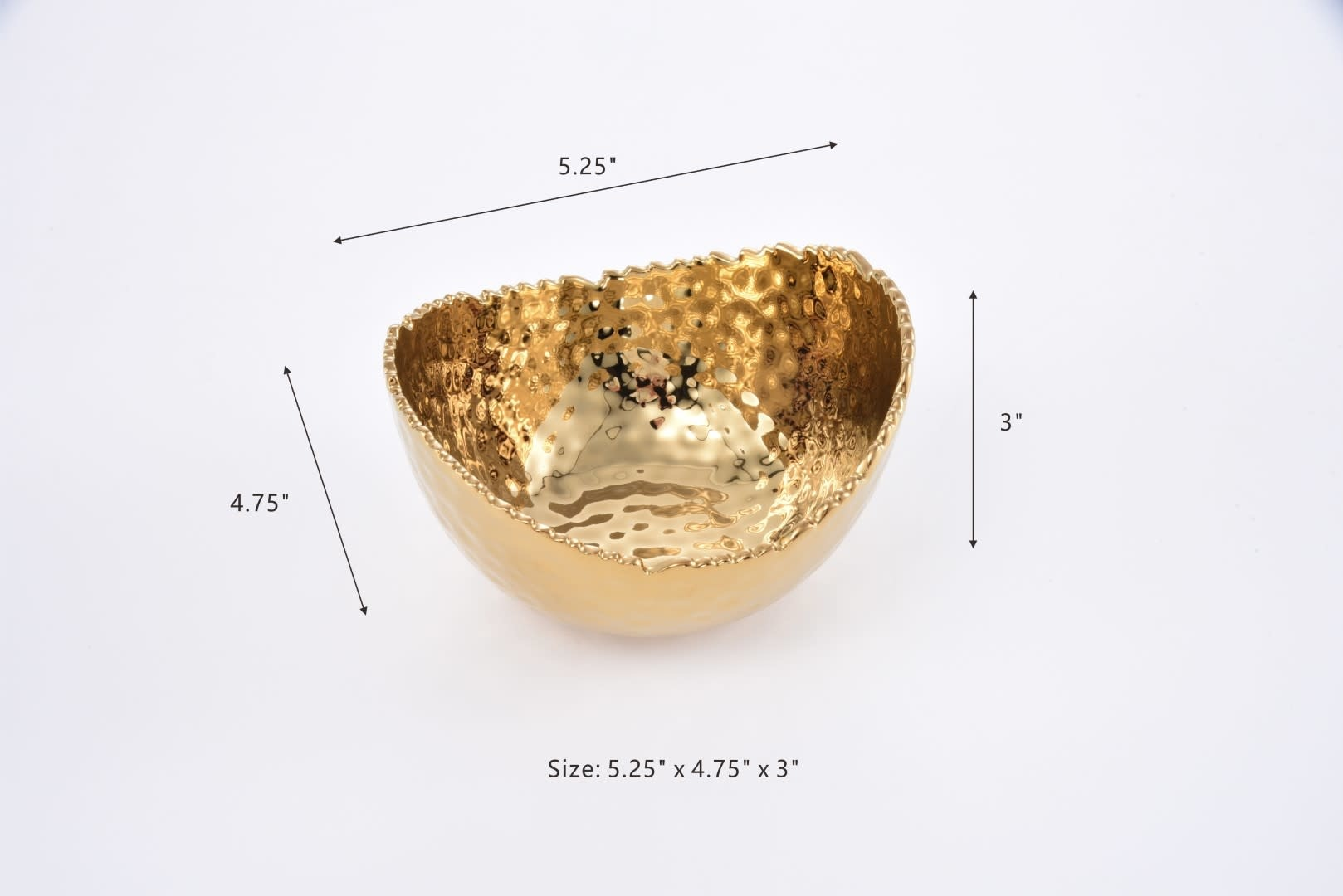 Extra Small Gold oval bowl
