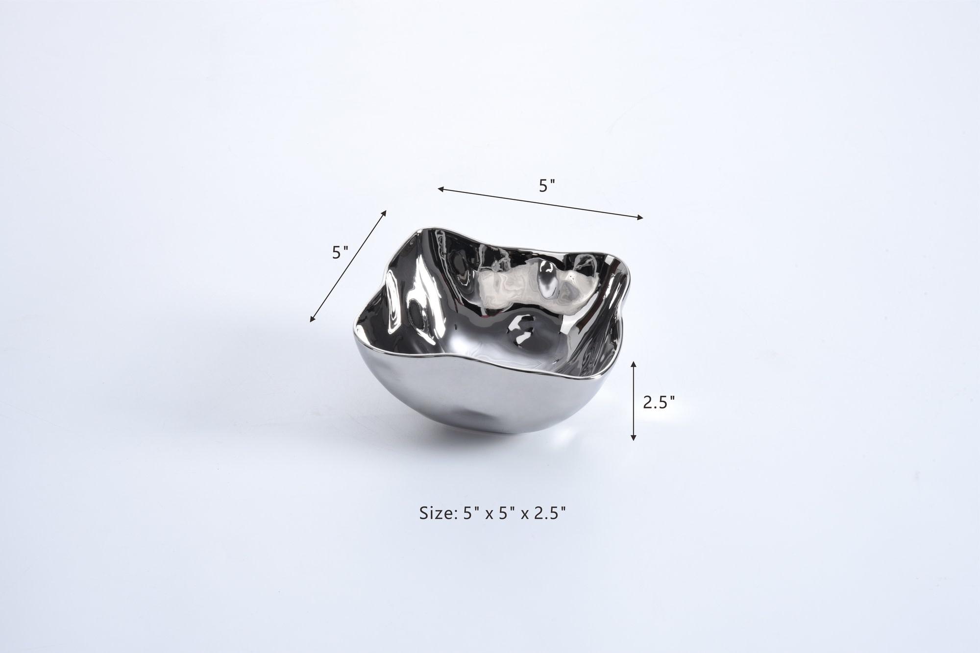 Simple Ceramic Silver Bowl