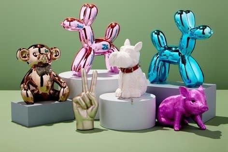 "Pink  Mini Balloon Dog 7.5"""