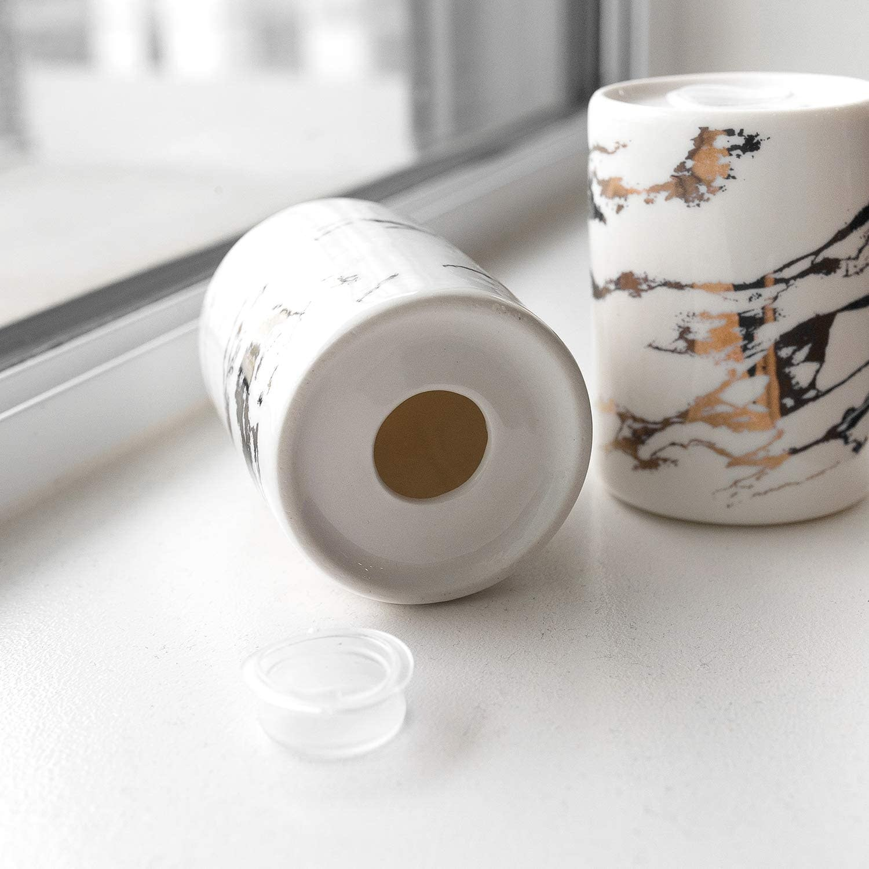 Marble & Gold Salt & Pepper Shakers