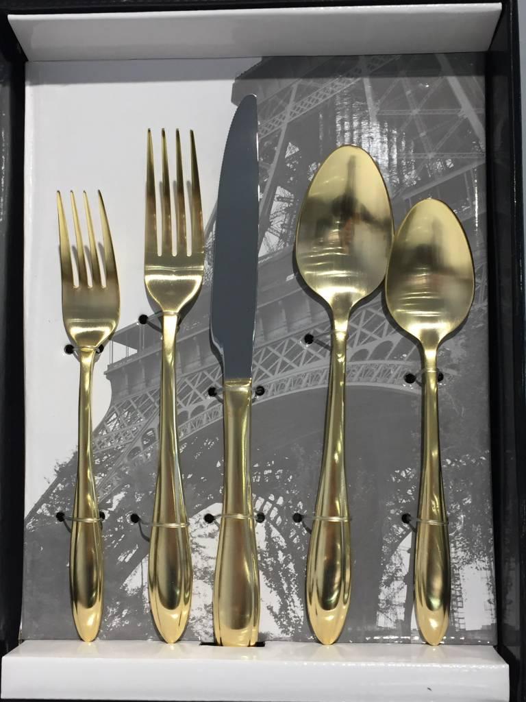 Artesia Matte Gold 20 pc Flatware