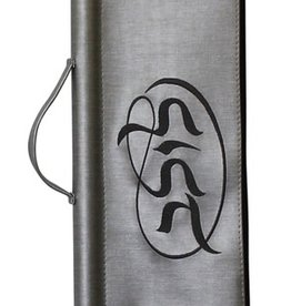 Silver Lulav Bag With Dark Gray Lettering
