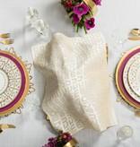 Apeloig Collection Challah Cover Hebrew Type Cream