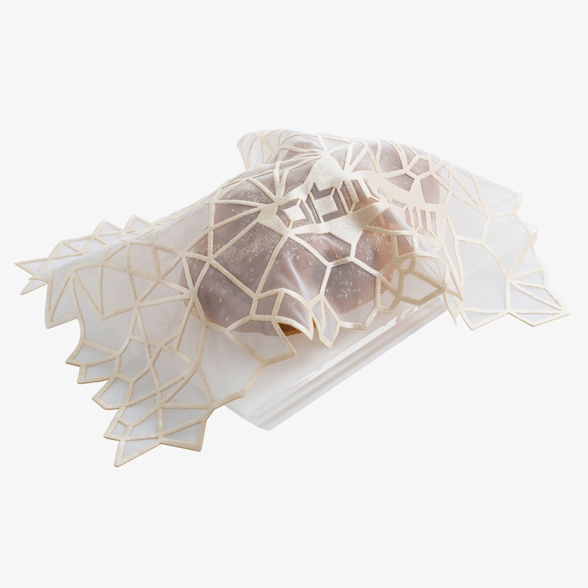 Apeloig Collection Challah Cover Geometric Cream