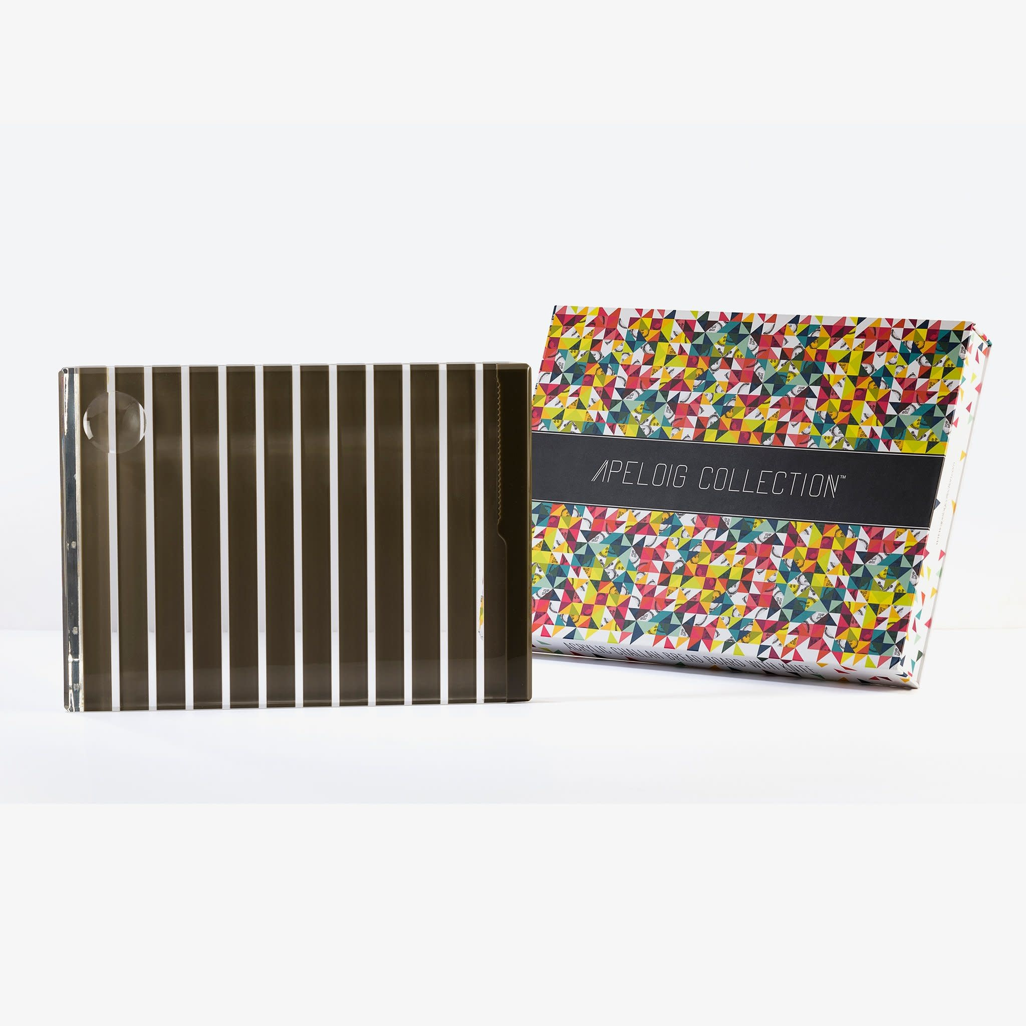Apeloig Collection Grey Striped Acrylic Challah Board