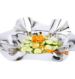 """14"""" Round SS Ruffled Design Serving Bowl"""