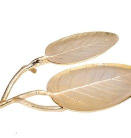 Gold Leaf 2 Layer Platter