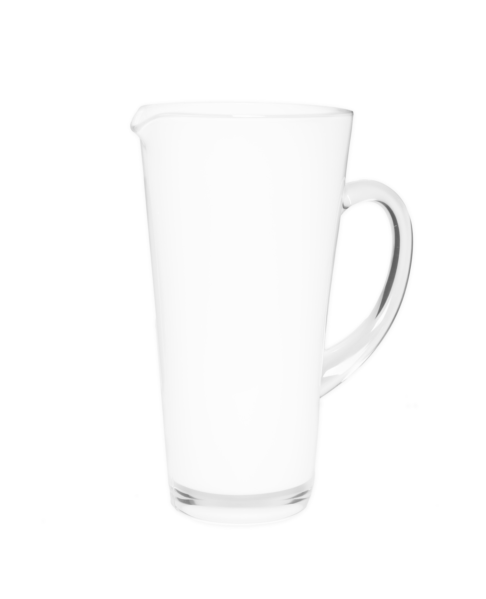White Glass Pitcher