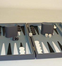 "18"" Grey Vinyl Attache Backgammon Set"