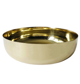 """10"""" Gold Bowl w Flaired Edge"""