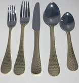 Euro Hammered Gold Flatware