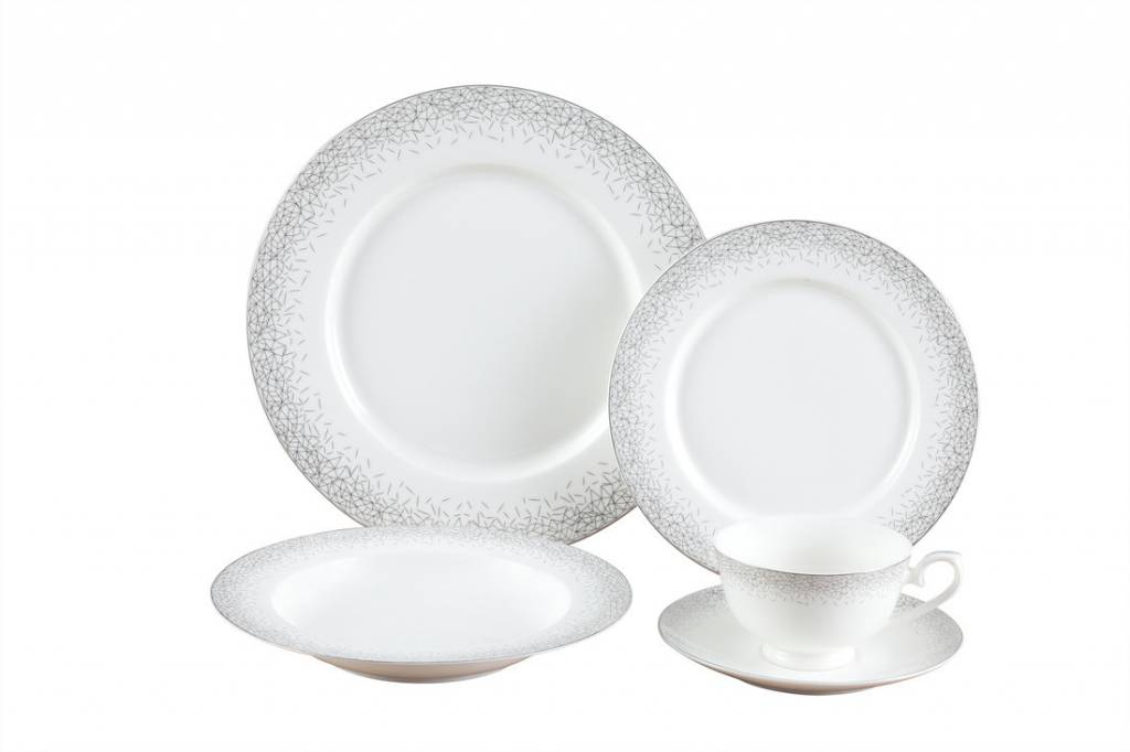 Infinity Platinum 20 Pc Dinnerware Set