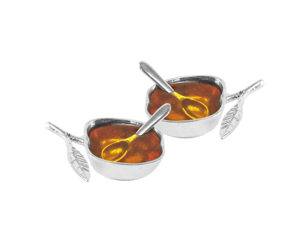 Apple honey Dish Nickel set of 2